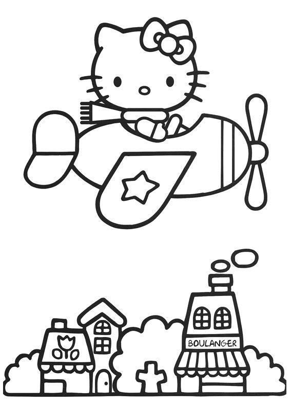Colorir A Hello Kitty Desenho Para Colorir