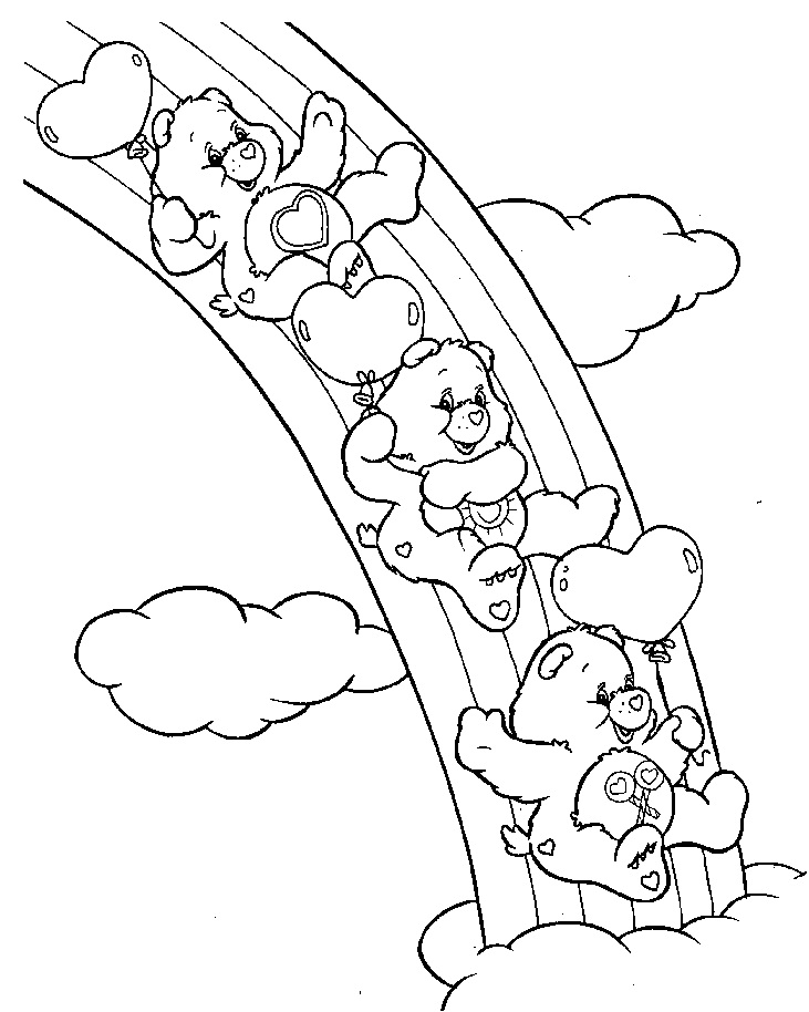 Colorir Os Ursinhos Carinhosos Desenho Para Colorir