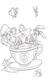 Alice in Wonderland Coloring